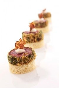 Beef canapes catering