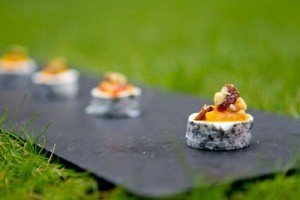 veg canapes catering