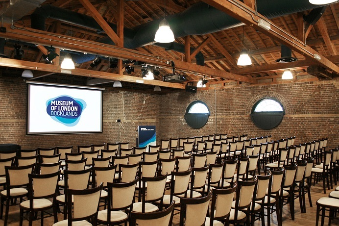 Wilberforce Room at The Museum of London Docklands | Create Food | London Venue Hire