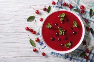 Eating in Season This July - Cooking with Cherries - Cherry Soup