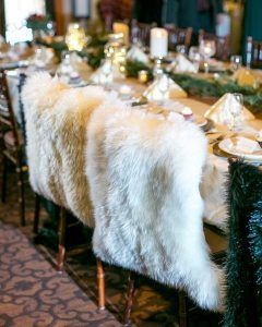 Winter Wedding Trends - Fur gold and velvet